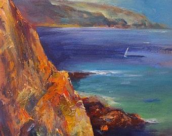 Steve Slimm Original Painting Of A Coastal Scene