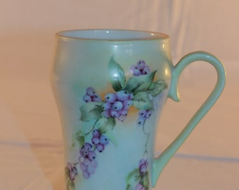 Hand Painted Bavarian Porcelain Mug