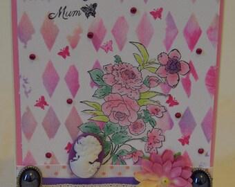 Handmade, handmade card, card, Mother's Day, Mother's Day card, card for mum, mother, mum