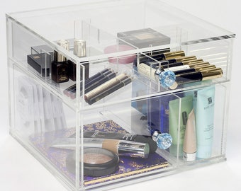 2 Drawer Makeup Organizer | Dream Collection - Clear Acrylic Makeup Storage