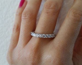 Verragio Cubic Zirconia Eternity Ring Size 8.75