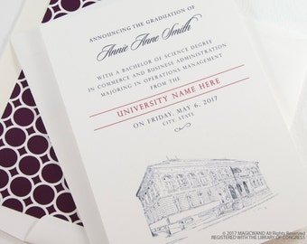 Sewanee - University of the South Graduation Announcements, Grad Party Invitation, Grads, College (set of 25 cards and envelopes)