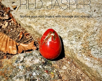 75% OFF Med. Red Jasper Yoni Egg