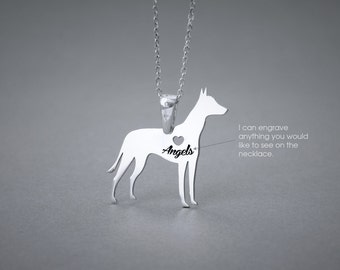 MEXICAN HAIRLESS Dog NAME Necklace - Xoloitzcuintli Name Jewelry - Personalised Necklace - Dog breed Necklace- Dog Necklace