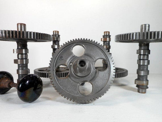 Old Engine Gears : Large metal industrial gear steampunk found object