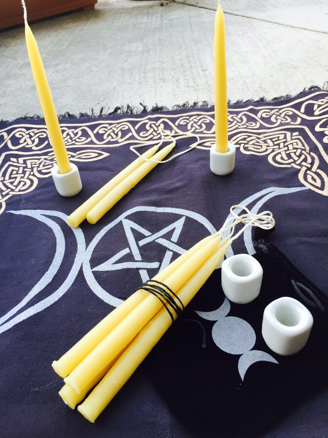 Pure beeswax hand dipped Chime Candles