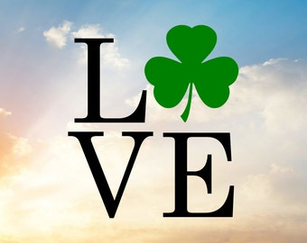 Shamrock SVG, Shamrock Cut File, Shamrock Decal, St. Patrick's Day Svg