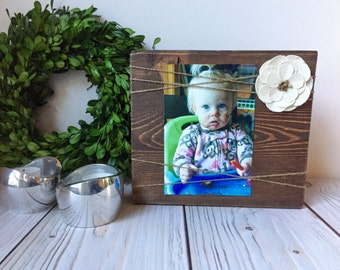 Rustic Picture Frame - Wood Picture Frame - Picture Frame - Rustic Wall Decor - Farmhouse Decor - Rustic Home Decor - Wood Frame - 4x6 Frame