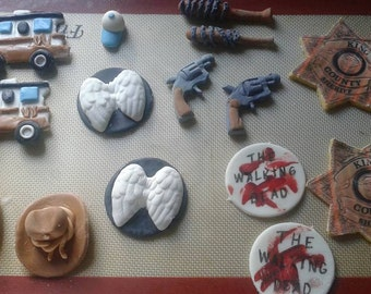 The walking dead inspired cupcake toppers