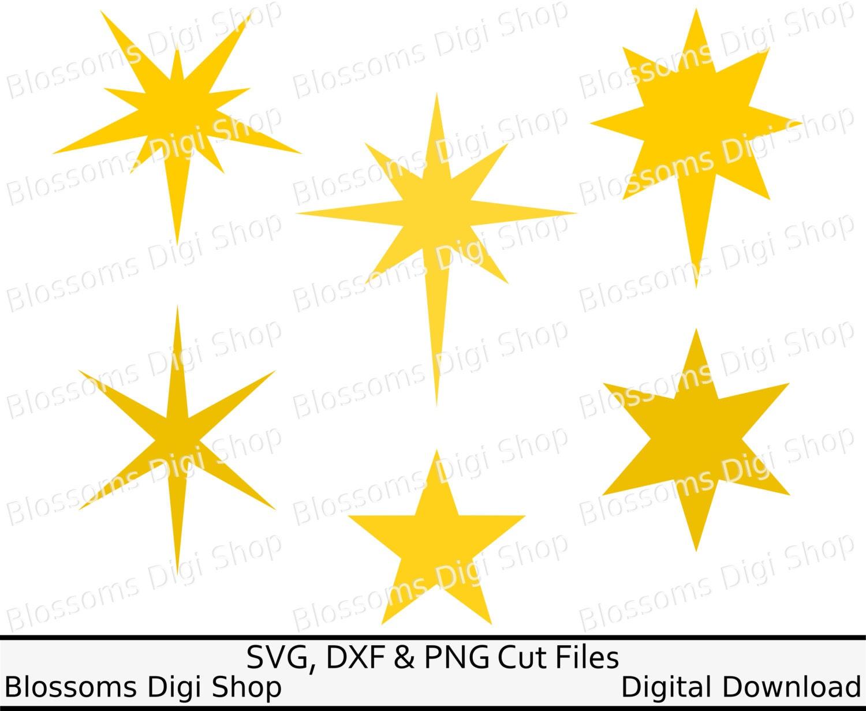 Christmas stars svg digital download star template cut