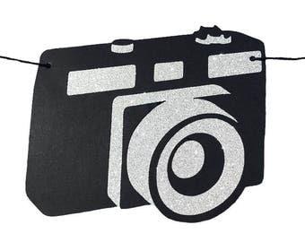 Camera Banner - RTS Banner - Camera Decoration - Camera Garland - Photography Banner - Photography Garland - Black Camera Banner- Photo Prop