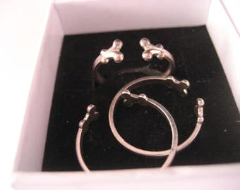 3 Pieces Sterling Silver Design Ring Shanks