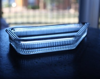 Usual Shaped Clear Glass Dish or Tray