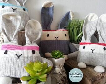 Bottom of wool rabbit, plush, gray, Easter