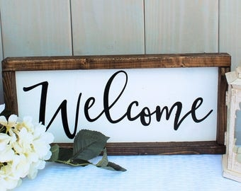 welcome sign - rustic home decor - welcome sign wood - farmhouse welcome sign - rustic welcome sign - farmhouse sign - wood sign