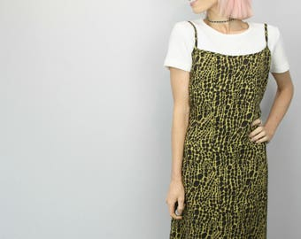 Vintage 90s Patterned Slip Dress