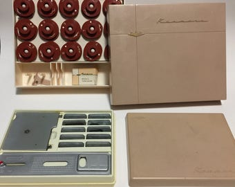 Kenmore Sewing Machine Parts & Button Holder Model 90 and Decorative Stitch Patterns In Boxes