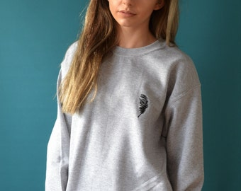 Embroidered feather Jumper