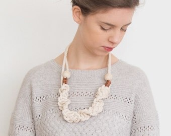 Natural rope necklace, macrame necklace, statement necklace, woven necklace, natural necklace, natural macrame necklace, boho necklace