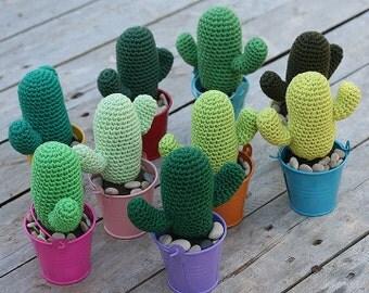 Cactus #1 Saguaro Crochet Kit by TomToy, Easy crochet pattern, Gift for crocheter, Handmade gift, Make your own cacti of many colors