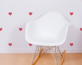 Pack of 20 Mini Heart Wall Decals - Decor accessory made from reusable vinyl