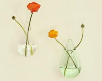 Wedding Decor, Hanging Glass Vase, Clear Glass Vase, Wedding Favors, Outdoor Decor