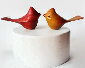 Gâteaux de mariage Cardinal, à la main sculptée souvenir, peint à la main, oiseau de gâteau, gâteau d'anniversaire