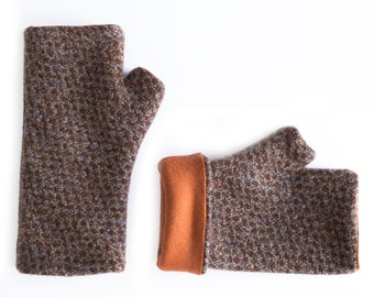 Long wool gloves –Brown and gray  winter gloves – Fingerless mitts – Driving gloves –Texting gloves –Arm warmers -Hand warmers