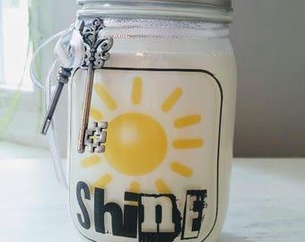 Summer Soap Dispenser / Summer Mason Jar Soap Dispenser / Sun Soap Dispenser / Shine Soap Dispenser / Sunshine Soap Dispenser / Soap