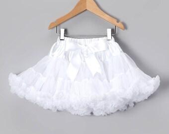 Pettiskirt petticoat white tutu dress for baby girls