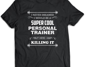 Personal Trainer Gift, Personal Trainer Tshirt, Personal Trainer Top, Personal Trainer Tee, Black Tshirt, Black Top, Black Tee