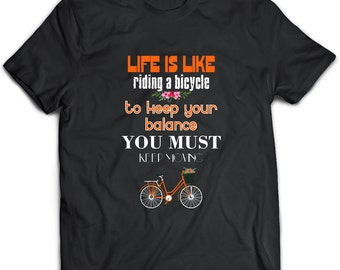Bicycle T-Shirt. Bicycle tee present. Bicycle tshirt gift idea. - Proudly Made in the USA!