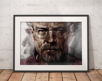 Breaking Bad Walter White print Bryan Cranston wall art home decor