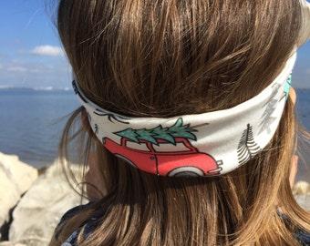 Christmas Vacation Top Knot- headband, Christmas accessories, christmas top knot, baby headband, toddler headband, headband, adult headband