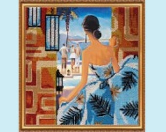 """The kit for a Embroidery with beads by ABRIS ART  """"Window to Rio"""""""