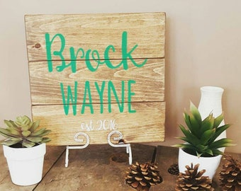 Personalized wood sign, Pallet sign, Wooden signs, Wood signs personalized, Reclaimed wood sign, Baby Room Decor