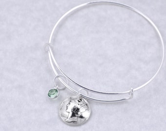 80th Birthday Gift - 1937 Silver Mercury Dime Coin Birthstone Bangle Bracelet Jewelry - Birthday Gift for Mother - Birthday Gift for Grandma