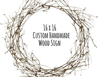 16x16 Wood Sign - Custom Wood Sign - Personalized Wood Sign - Custom Signs for Home - Rustic Wood Signs - Custom Sign - Custom Wooden Signs