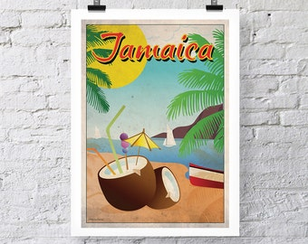 Vintage Travel Print: Jamaica Wall Art poster