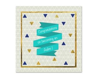 Congratulations On Becoming An Aalim - Islamic Card