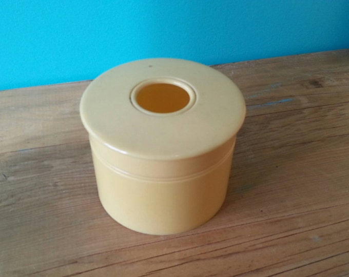 French Ivory Celluloid Cotton Ball Holder