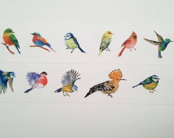 Design Washi tape birds stained natural