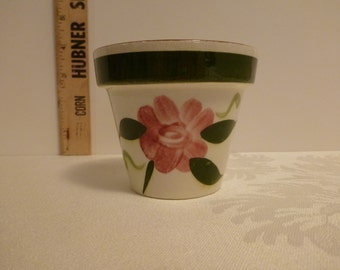 Stangl Red Rose 3'' Flower Pot #3661