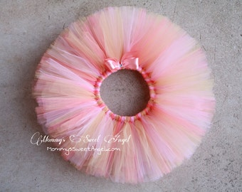 Peach, pink, coral tutu. Baby girl tutu. First birthday tutu. Cake smash tutu. Birthday tutu. Pick your colors!!!