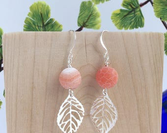 Long Earrings / Leaf Earrings / Botanical Jewelry / Unique Graduation Gift / Gift for Nature Lover / Gift for Her