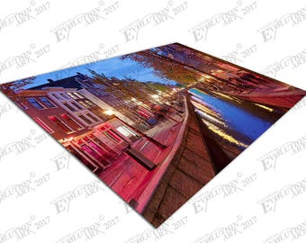 Print on Canvas city of Amsterdam the Red Light District Holland X1289