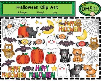 Halloween Clip Art - Digital Clipart - Fall Clip Art - Instant Download