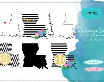 Louisiana svg, Louisiana  vector file, Louisiana  SVG file, svg, Louisiana  state, Louisiana state silhouette, LA svg  ID#stn-la