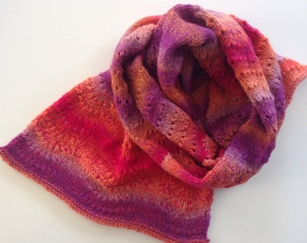 Scarf, hand knitted in my studio. 100% wool. 170 x 40 cm.