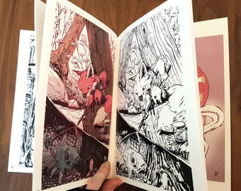 Inktober 2016 artbook by Claire Gary